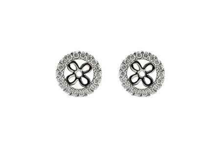 A214-95379: EARRING JACKETS .24 TW (FOR 0.75-1.00 CT TW STUDS)