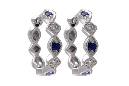 D028-55369: EARRINGS .20 SAPP .25 TGW