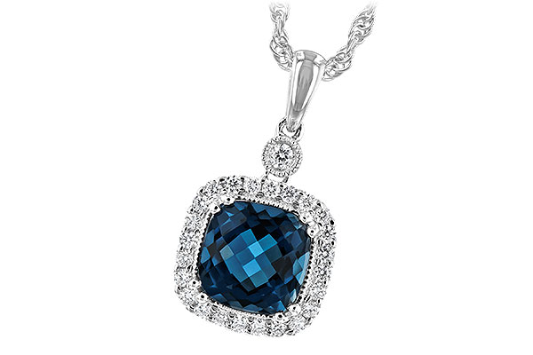 K216-74460: NECK 1.63 LONDON BLUE TOPAZ 1.80 TGW
