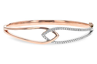 K216-80896: BANGLE BRACELET .50 TW (ROSE & WG)