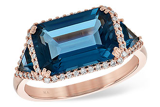 L217-66314: LDS RG 4.60 TW LONDON BLUE TOPAZ 4.82 TGW